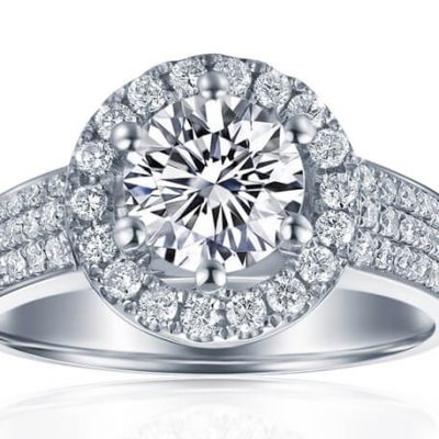 Halo Diamond Engagement rings sydney - Germani Jewellery