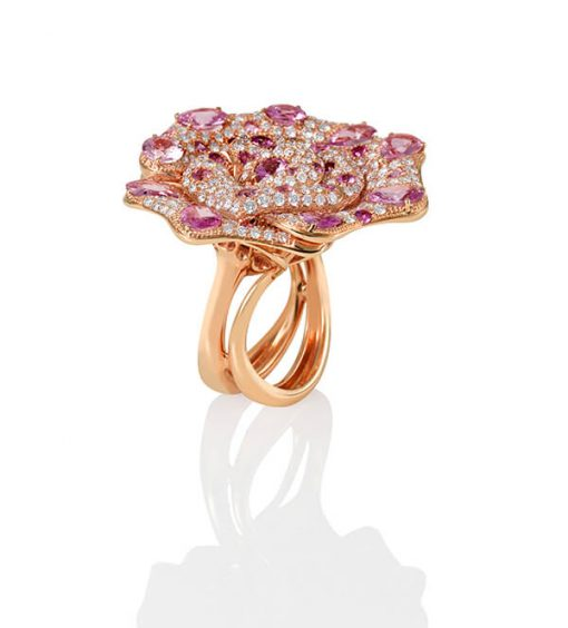 Michel Germani's Exclusive Rose Gold Pink Diamond Ring - Germani Jewellery