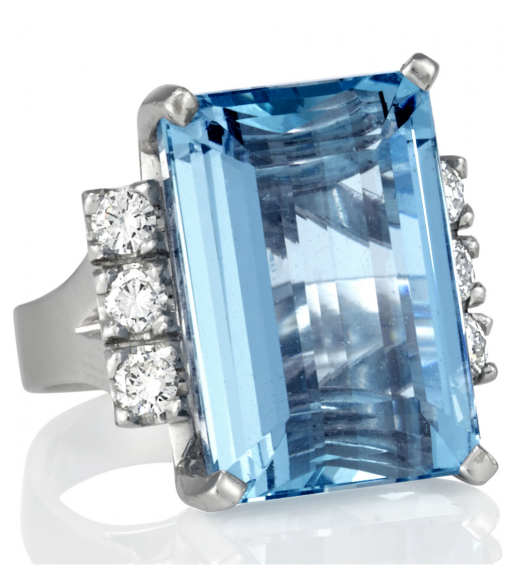 aquamarine ring - Germani Jewellery