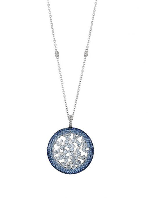 Blue Sapphire and Diamond Necklace - Germani Jewellery