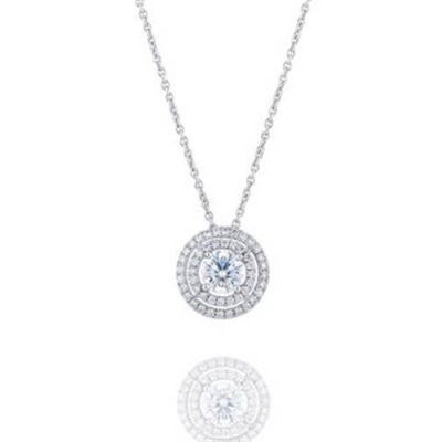 Diamond Pendant -Double Halo Design - Germani Jewellery