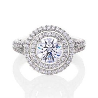 Double Halo Diamond Engagement Rings Sydney - Germani Jewellery