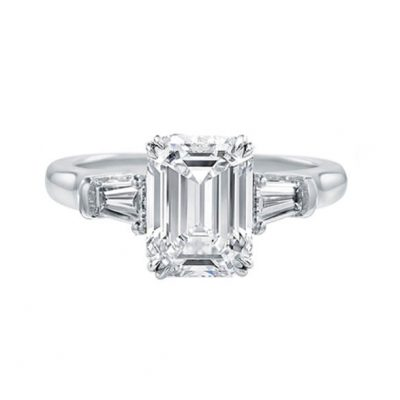 Emerald Cut Solitaire Diamond Engagement Rings Sydney - Germani Jewellery