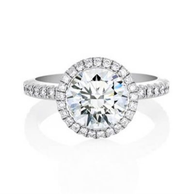 Michel Germani's Halo Solitaire Diamond Engagement Ring - Germani Jewellery