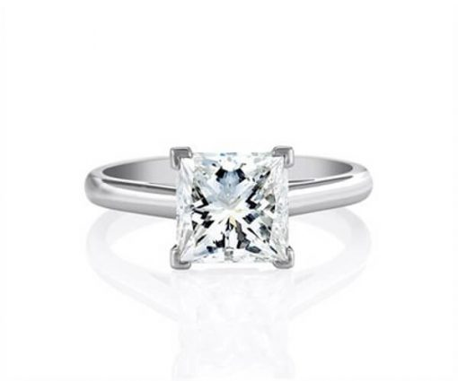 Michel Germani's Princess Cut Solitaire Diamond engagement ring - Germani Jewellery
