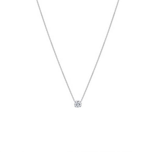 Round Brilliant Cut Diamond Solitaire Pendant - Germani Jewellery
