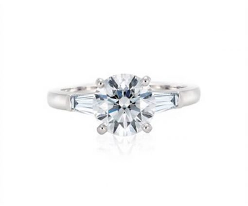Michel Germani's round brilliant cut solitaire diamond engagement ring - Germani Jewellery