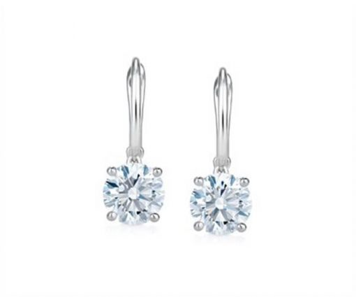 Classic Round Diamonds Sleeper Earrings - Germani Jewellery