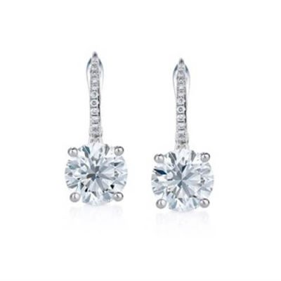 Classic Round Diamond Earrings - Germani Jewellery