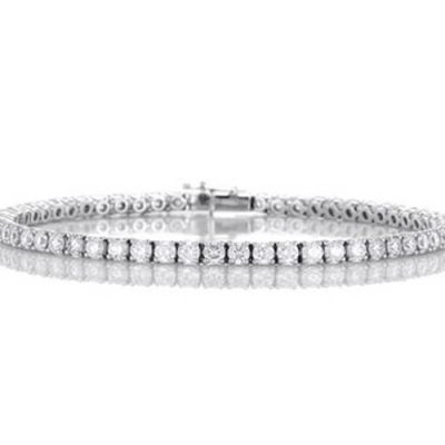 Michel Germani's classic round diamonds bracelet - Germani Jewellery