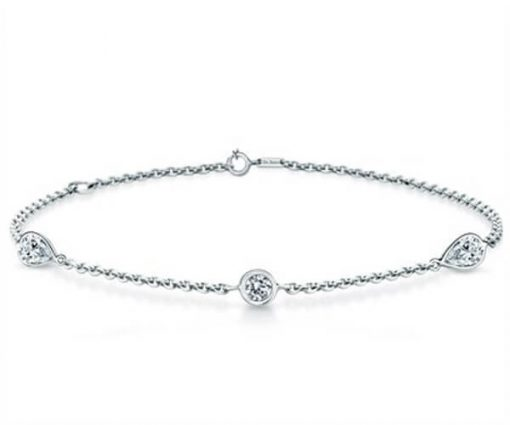Michel Germani's classic round and pear shape bracelet - Germani Jewellery
