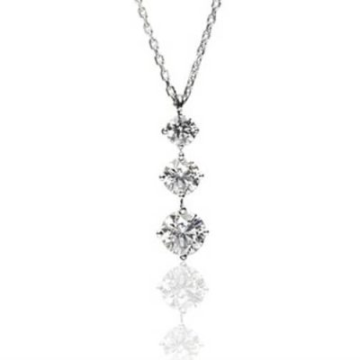 Three Diamonds Pendant - Germani Jewellery
