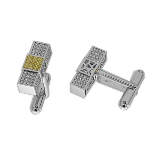 Michel Germani's Yellow gold plated cufflinks in sterling silver - Germani Jewellery