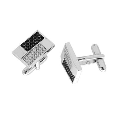 monochrome cufflinks for men - Germani Jewellery