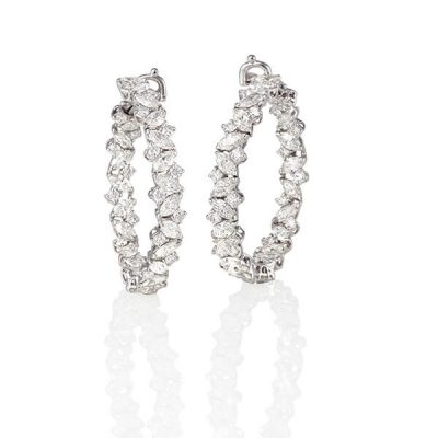 Eternity Marquise Diamond Earrings - Germani Jewellery