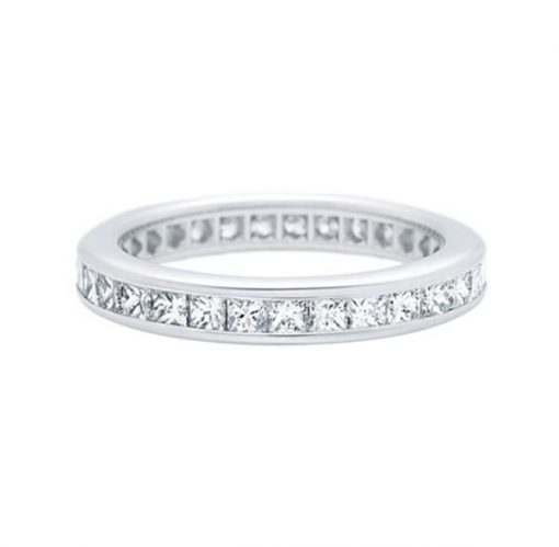 Eternity Diamond Ring with 18K White Gold for ladies - Germani Jewellery