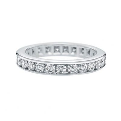 Eternity Diamond Ring with 18K White Gold -  Germani Jewellery