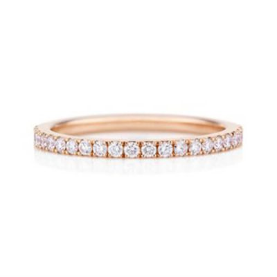 Rose Gold Diamond Wedding Band for ladies - Germani Jewellery