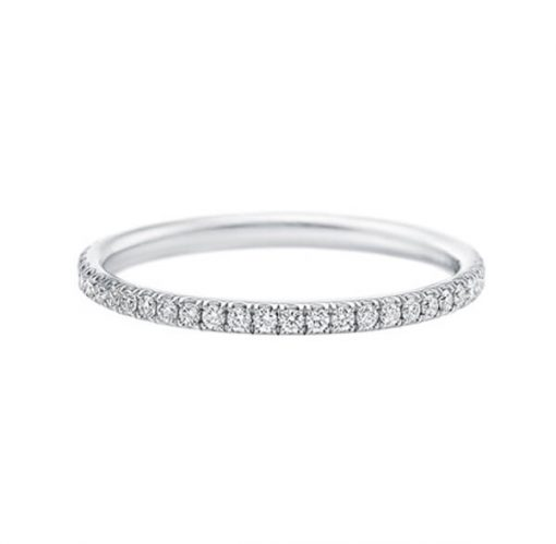 Diamond wedding band with 18K White gold for ladies - Germani Jewellery