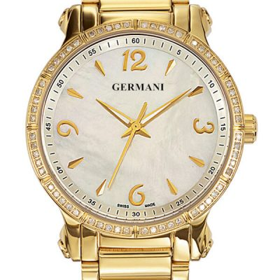 Gold plated Diamond Quartz Men's watches - Michel Germani