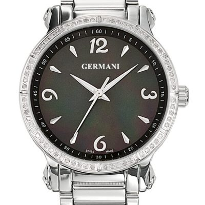 Black faced diamond ladies watch - Germani Jewellery
