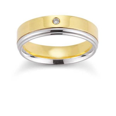 Men's Two Tone Wedding Band - Germani Jewellery