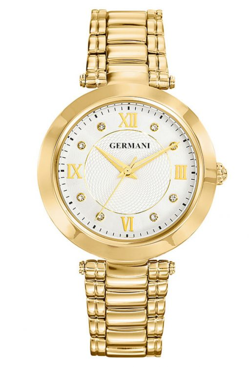 Diamonds and yellow gold quartz ladies watch - Germani Jewellery