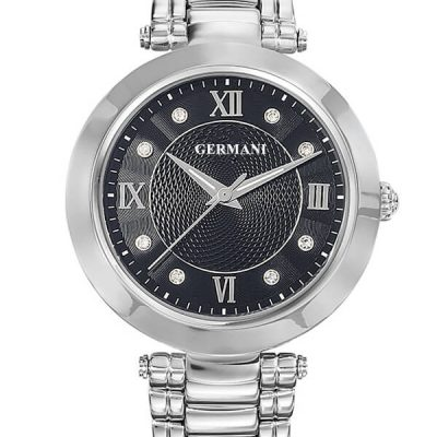 black face quartz ladies watch - Germani Jewellery