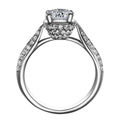 Custom Made Diamond Engagement Ring Sydney - Germani Jewellery