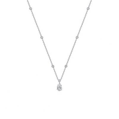 Pear Shape Diamond Solitaire Pendant - Germani Jewellery