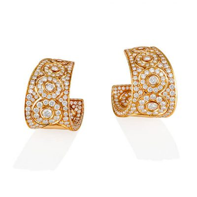 Luxury Yellow Gold Diamond Earrings - Germani Jewellery