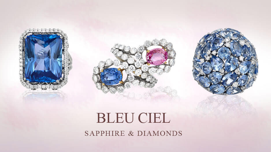 Sapphire and Diamonds Rings - Germani Jewellery