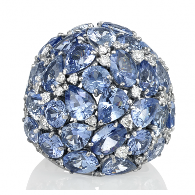 Blue Diamond Rings - Germani Jewellery