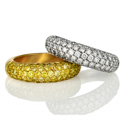 Pave wedding bands - Germani Jewellery