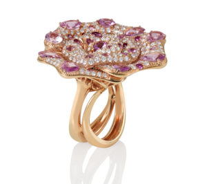 Exclusive Pink Diamond Rose Gold Ring - Germani Jewellery