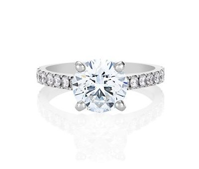 Classic Pavé Solitaire Diamond Engagement Ring - Germani Jewellery