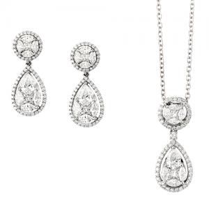 Diamond earrings and necklaces - Germani Jewellery