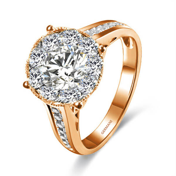 Yellow Gold Diamond Engagement rings sydney - Germani Jewellery