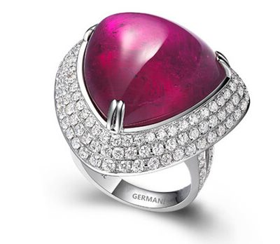 Cabochon Ruby Ring - Germani Jewellery
