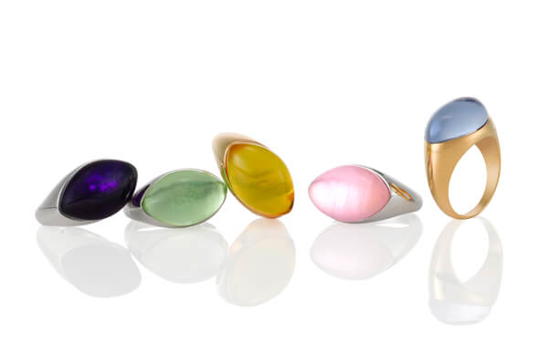 18K Gold Rings with Color Stones - Germani Jewellery