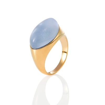 Color stone ring with 18K Yellow Gold - Germani Jewellery
