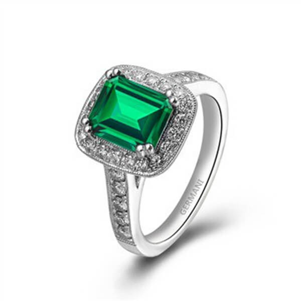 Emerald Diamond Ring - Germani Jewellery