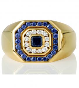 Blue Sapphire Men's Ring - Germani Jewellery