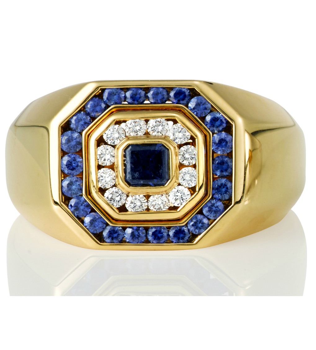 Blue Sapphire Men's Ring - Germani Jewellery