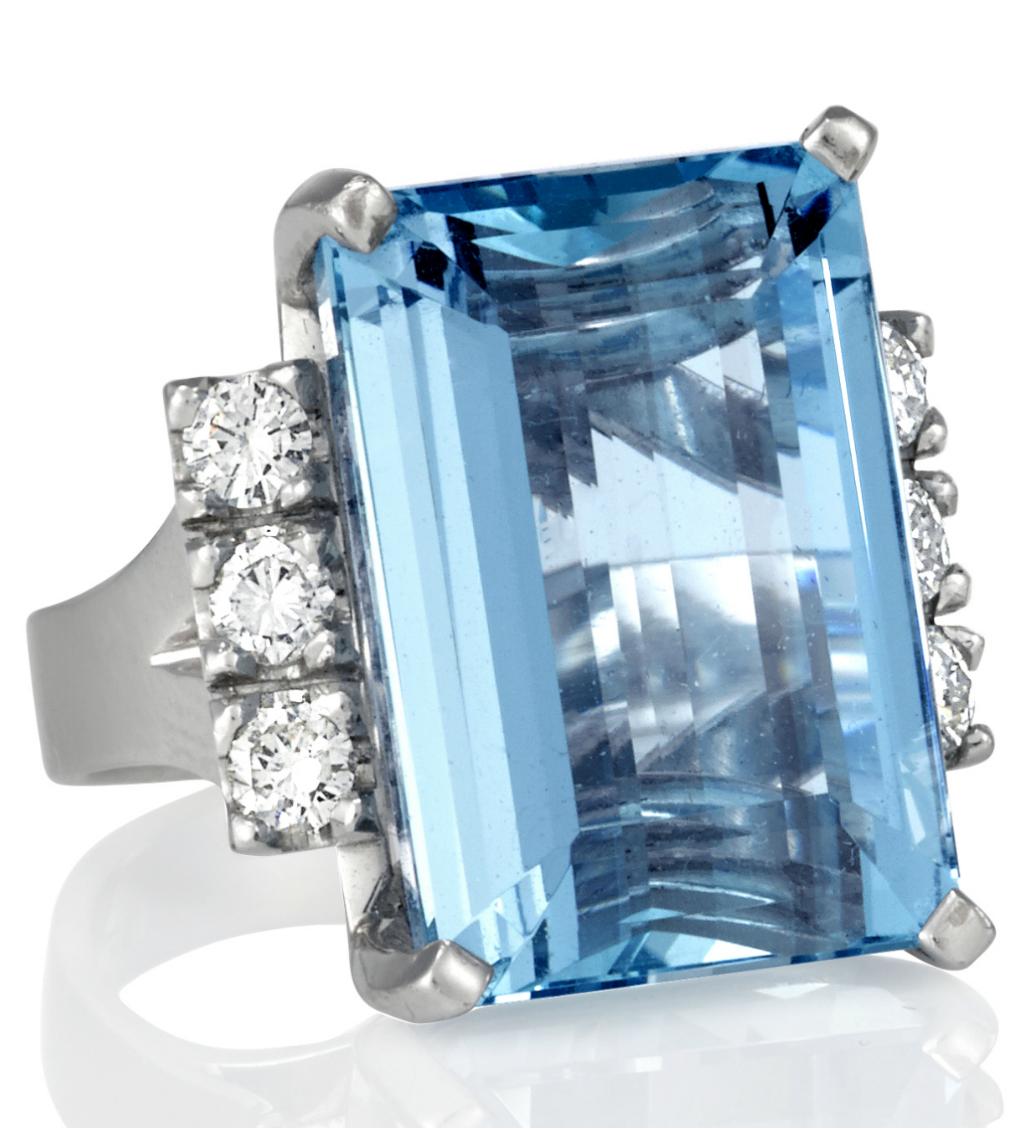 aquamarine ring - Germani Jewellery