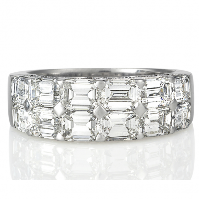 Emerald Cut Diamond Ring - Germani Jewellery