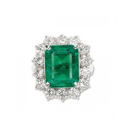 Emerald Diamond Ring - Germani Jewellery
