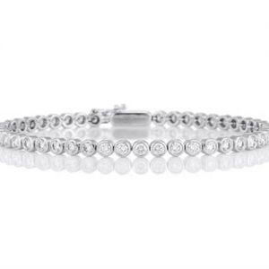 Michel Germani's classic bezel diamond bracelet - Germani Jewellery