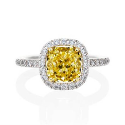 Michel Germani's Cushion Cut Yellow Diamond Engagement Rings Sydney - Germani Jewellery