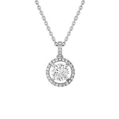 Classic Halo Design Diamond Pendant - Germani Jewellery
